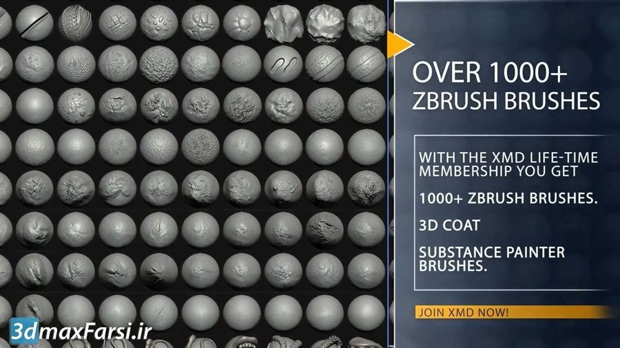 دانلود پکیج براش قلمو اسکالپ حجاری زیبراش Zbrush 3D Coat Substance