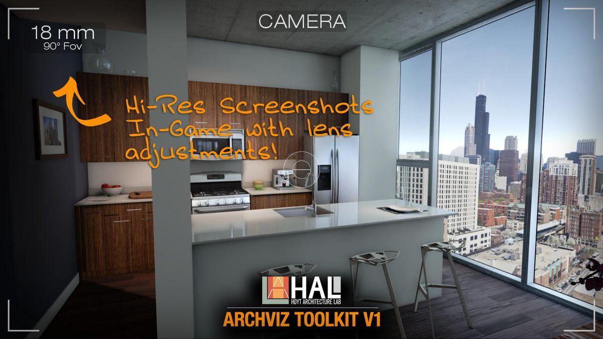 محیط آماده داخلی آنریل انجین Unreal Engine - HAL Archviz Toolkit V1