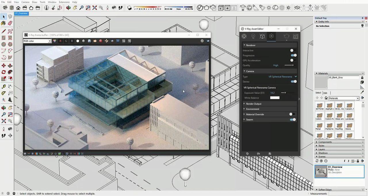 معرفی پلاگین رندرینگ ویری اسکچاپ VRay 3 SketchUp