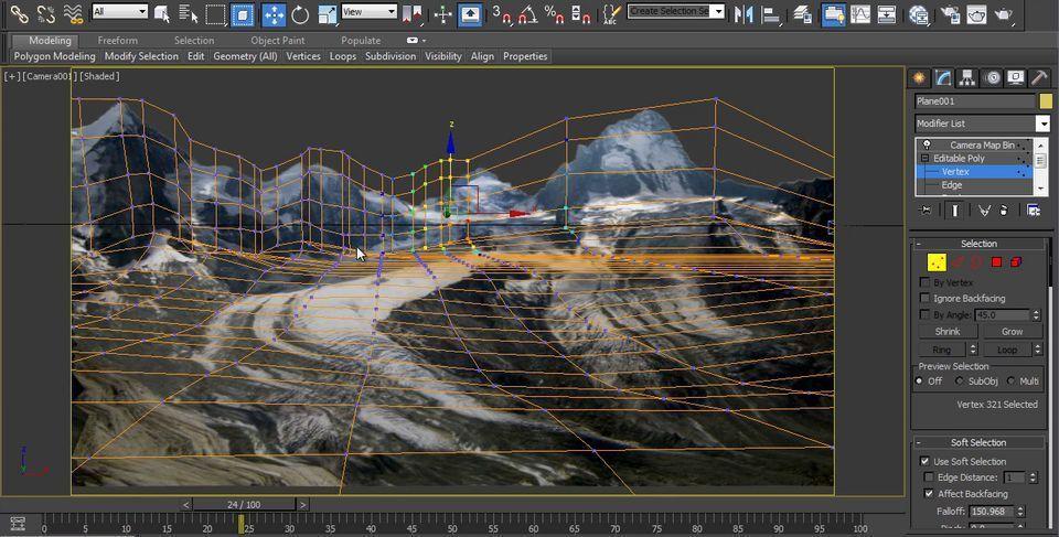 آموزش کمرا مپینگ تری دی مکس Landscape Camera mapping 3ds max