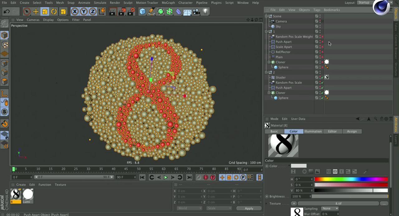 آموزش ویژگی جدید موگراف سینمافوردی MoGraph Cinema 4D