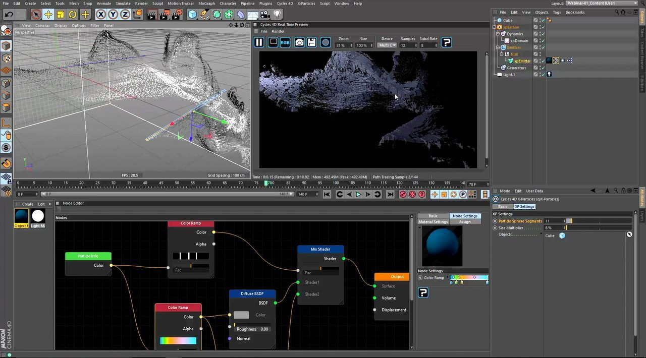 آموزش رندرینگ موشن دیزاین سینما فوردی Rendering Motion Design