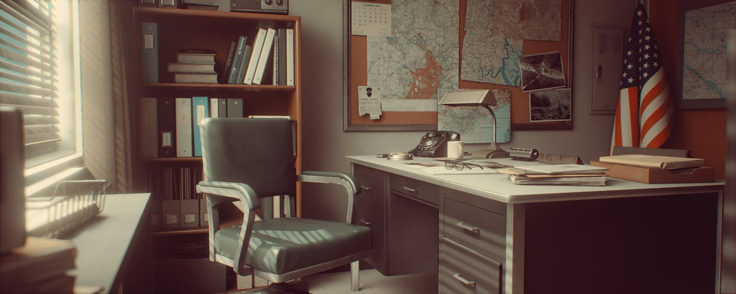 محیط آماده آنریل انجین Cubebrush – 1971 Saigon Office | Retro Environment UE4