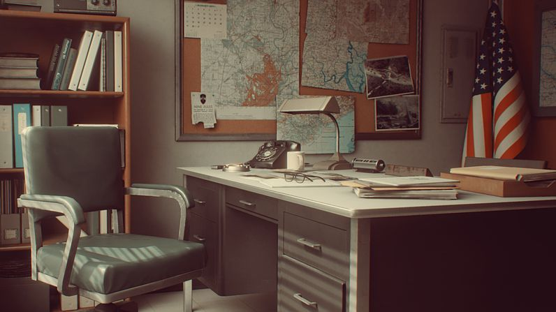 free download Cubebrush 1971 Saigon Office | Retro Environment UE4