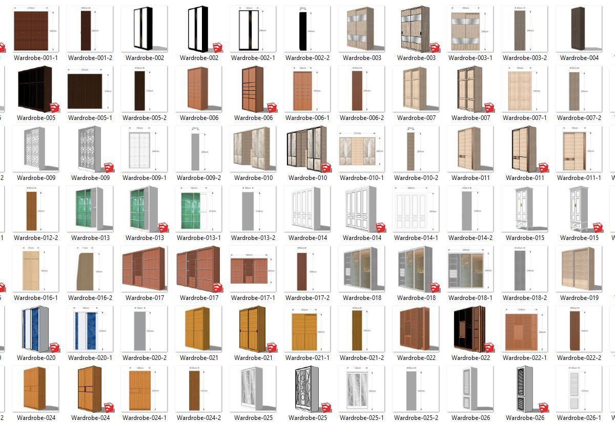 دانلود رایگان مجموعه آبجکت و کامپوننت برای اسکچاپ 10Gb Sketch Up Library Share by MINZSTUDIO