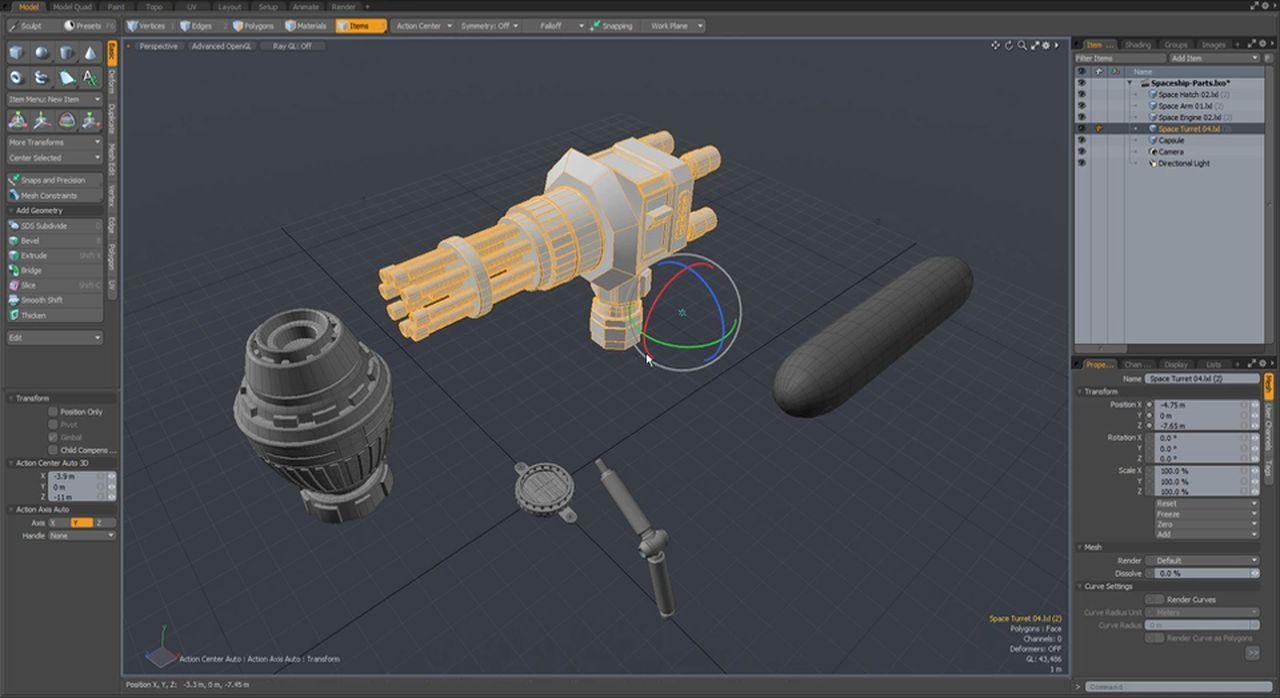 آموزش تصویری نرم افزار مودو تری دی مکس Modo 3ds max