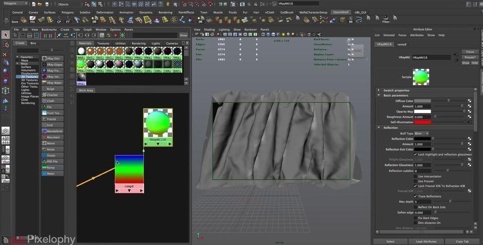 آموزش ساخت شیدر متریال پارچه ویری V-Ray Cloth Shader
