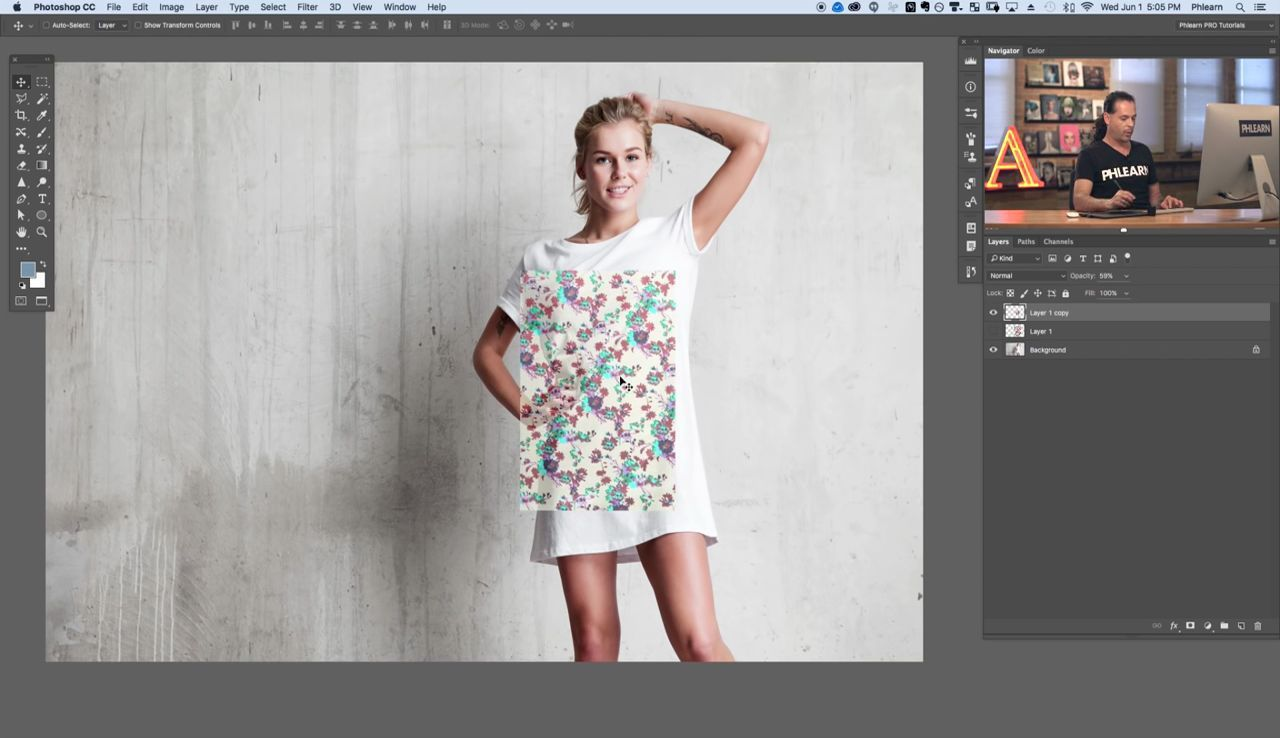 آموزش تصویری ترکیب دو عکس در فتوشاپ
