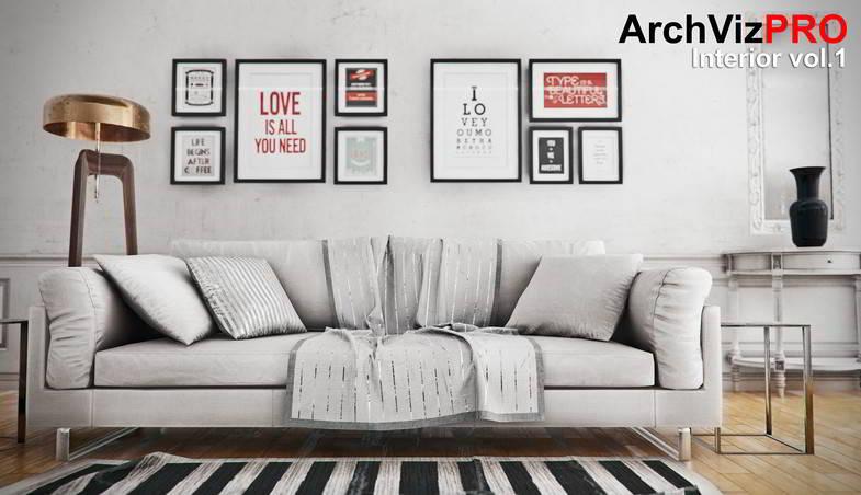 دانلود مدل آماده یونیتی ArchVizPRO Interior Vol.1 - Asset Store