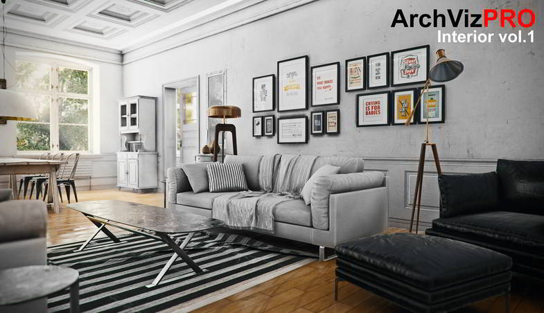 دانلود مدل آماده داخلی یونیتی ArchVizPRO Interior Vol.1 - Asset Store