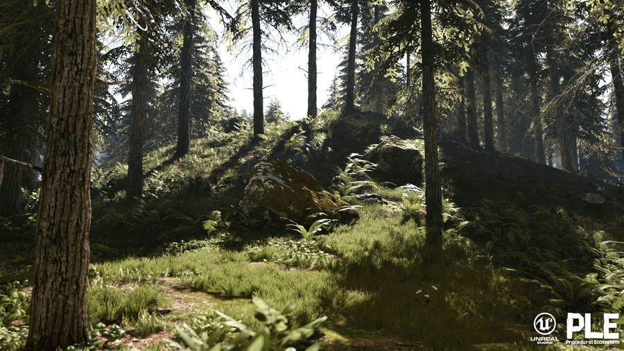 بازی سازی آنریل انجین Unreal Marketplace - Procedural Landscape Ecosystem