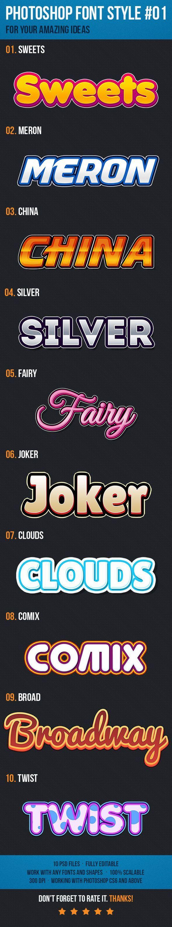 دانلود graphicriver 10 Text Style Effects for Game Logo #01