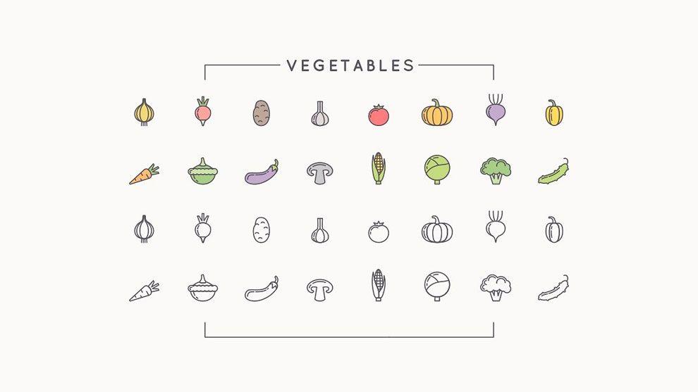 دانلود مجموعه آیکن کشاورزی و باغبانی creativemarket 112 icons farm gardeningapiculture