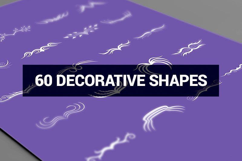 طرح های گرافیکی مدرن Creativemarket Megabundle 1160 Decorative Shapes