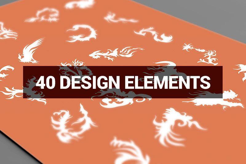 دانلود طرح های لایه باز Creativemarket Megabundle 1160 Decorative Shapes