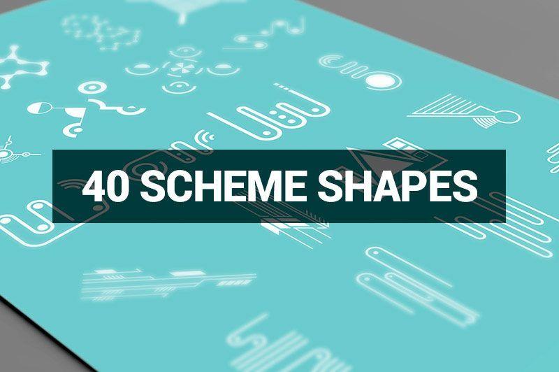 بنر کارت ویزیت تراکت پوستر فاکتور سربرگ آگهی ترحیم Megabundle 1160 Decorative Shapes
