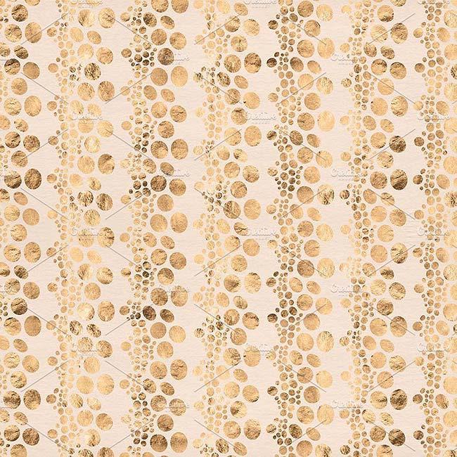 دانلود مجموعه طرح های گرافیکی : پترن دریایی مروارید با رنگ رز طلایی