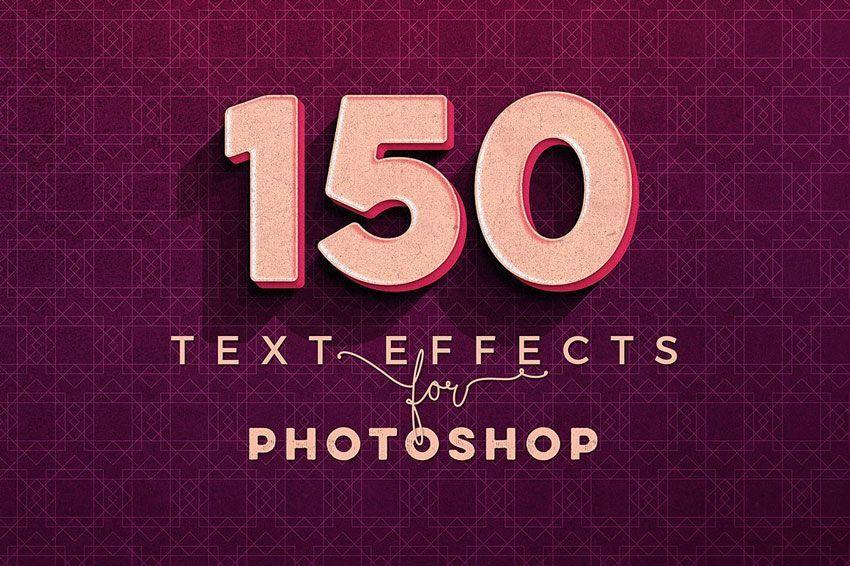دانلود استایل های سه بعدی برای فتوشاپ Creativemarket: 150 3D Text Effects for Photoshop