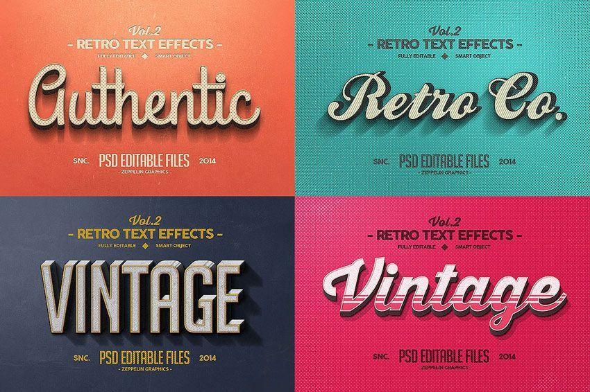 فونت زیبای فارسی 150 3D Text Effects for Photoshop