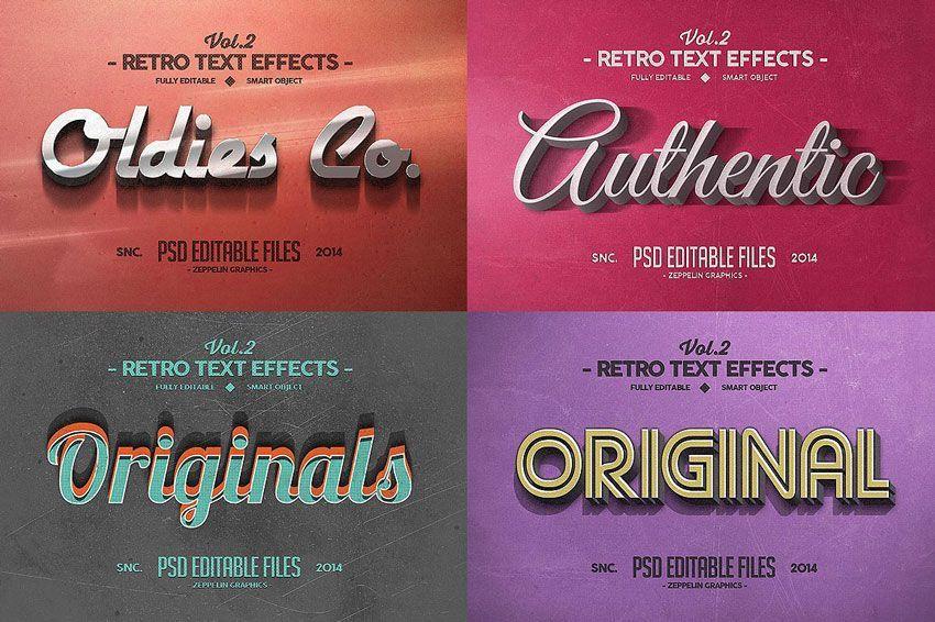 دانلود فونت فارسی برای کارت عروسی 150 3D Text Effects for Photoshop