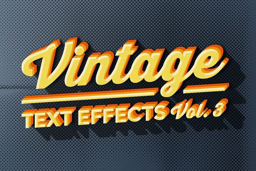 دانلود متن لایه باز فتوشاپ 150 3D Text Effects for Photoshop