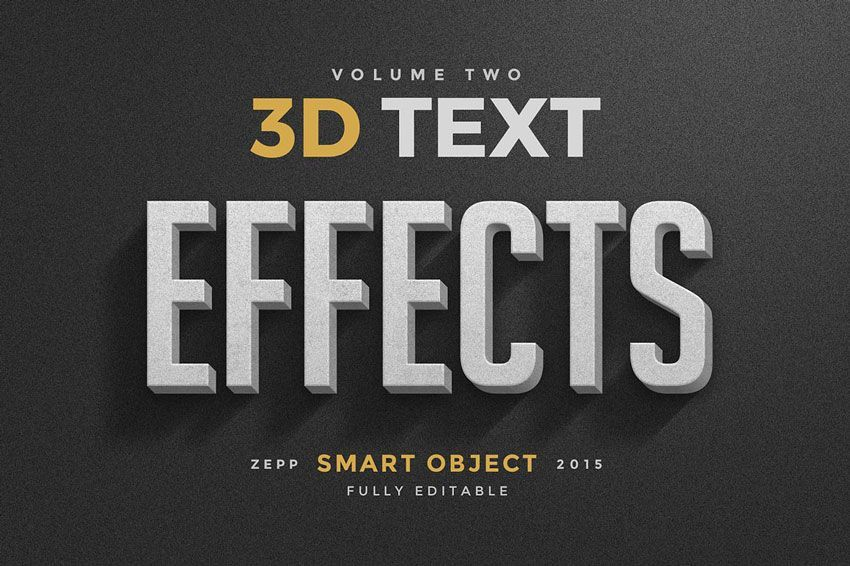فایل سه بعدی فتوشاپ Creativemarket: 150 3D Text Effects for Photoshop