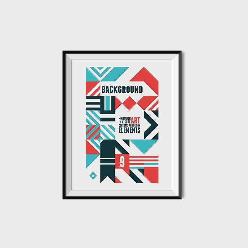 دانلود رایگان پوستر شکل المان هندسی اشکال گرافیکی وکتور