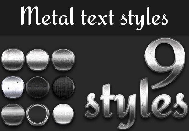 دانلود برنامه فتوشاپ نوشته فلزPremium Photoshop Text Styles