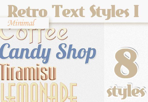 دانلود متن لایه باز فتوشاپ ریتو Premium Photoshop Text Styles
