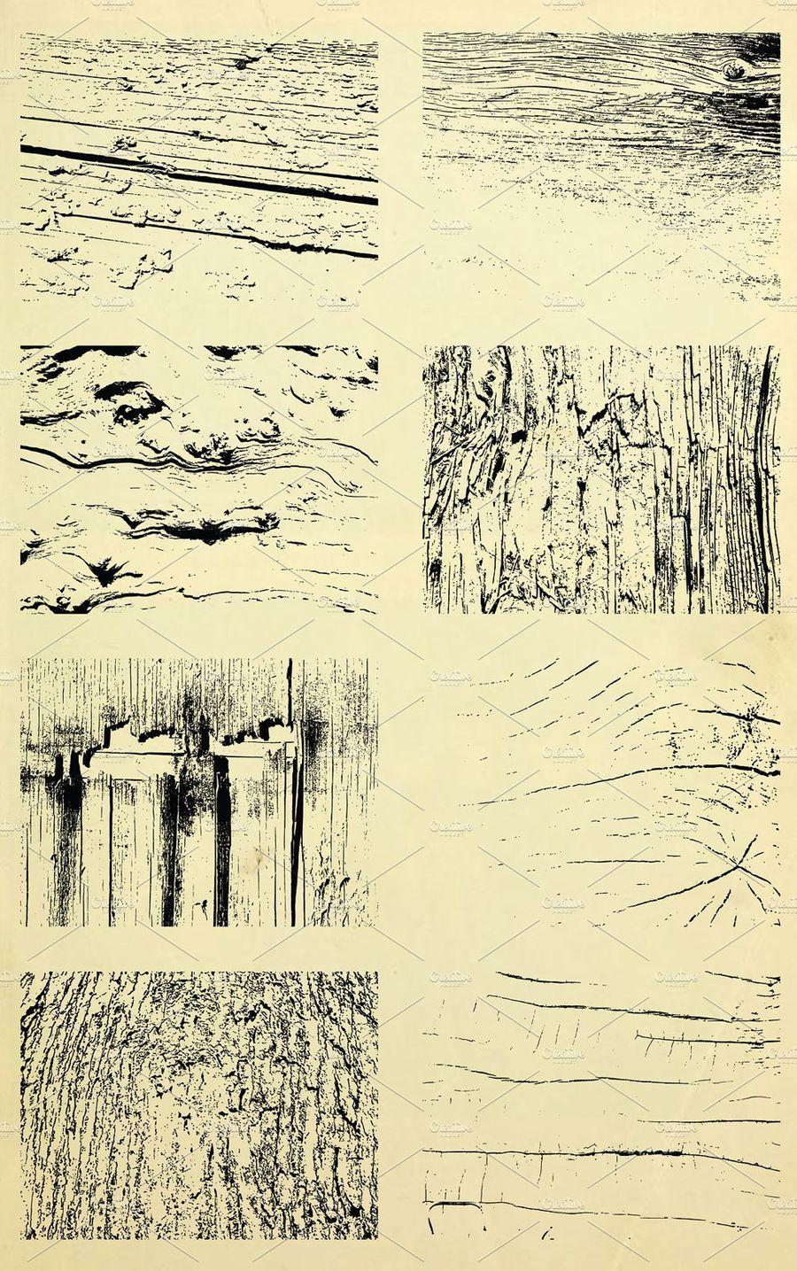 دانلود creativemarket 24 Vector Wood Textures