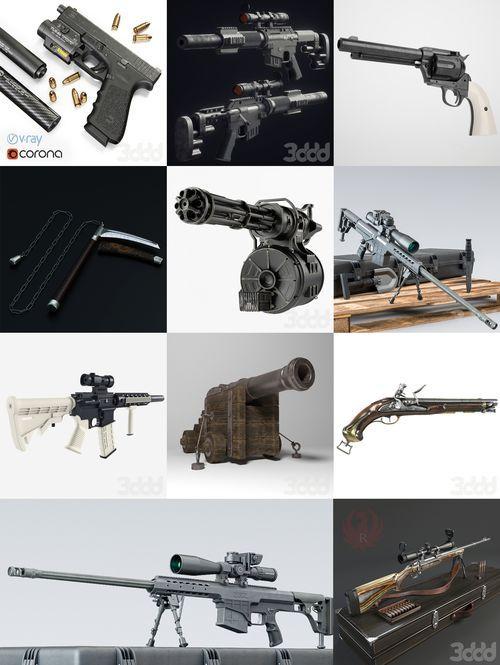 دانلود 3DDD/3DSky – Pro Weapon 3d-models