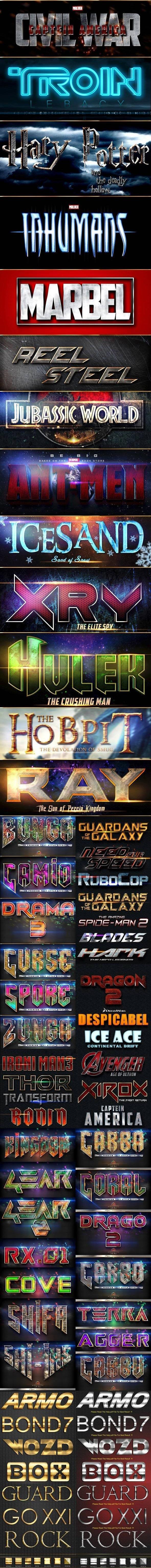 دانلود graphicriver Movie Text Style Bundle
