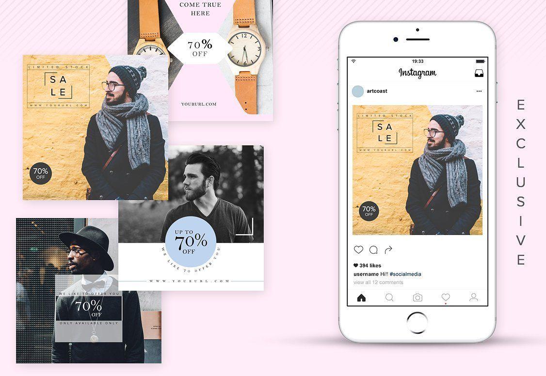 دانلود قالب پست اينستاگرام Animated Modern Instagram Posts v1