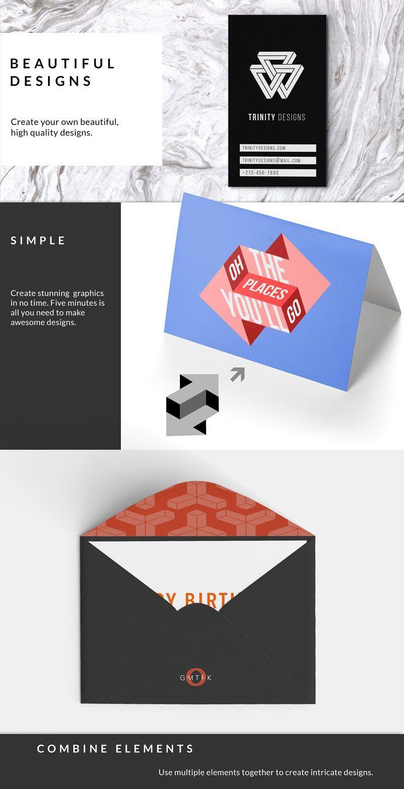 دانلود مجموعه طرح گرافیکی با هندسی غیرممکنcreativemarket impossible geometry graphics template