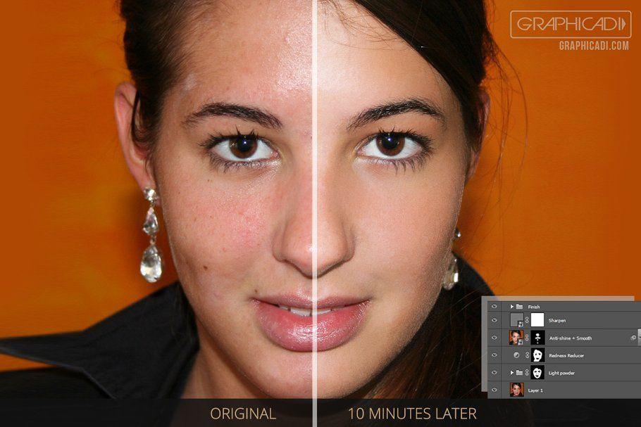 اکشن فتوشاپآتلیه Skin Retouch Photoshop Actions