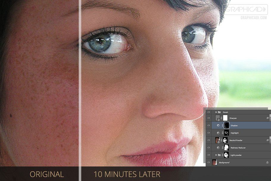 اکشن روتوشحرفه ای Skin Retouch Photoshop Actions