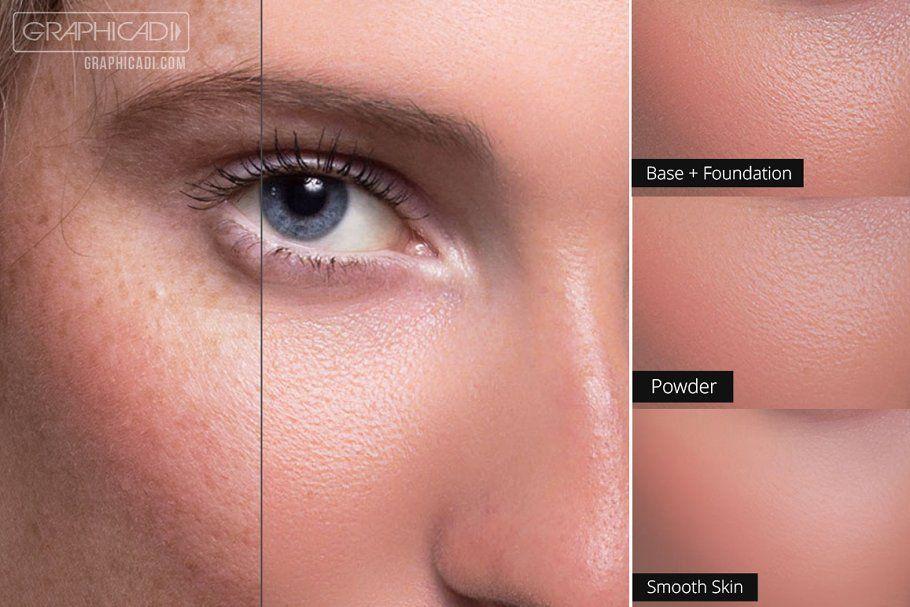 اکشن روتوشعکس پرسنلی Skin Retouch Photoshop Actions