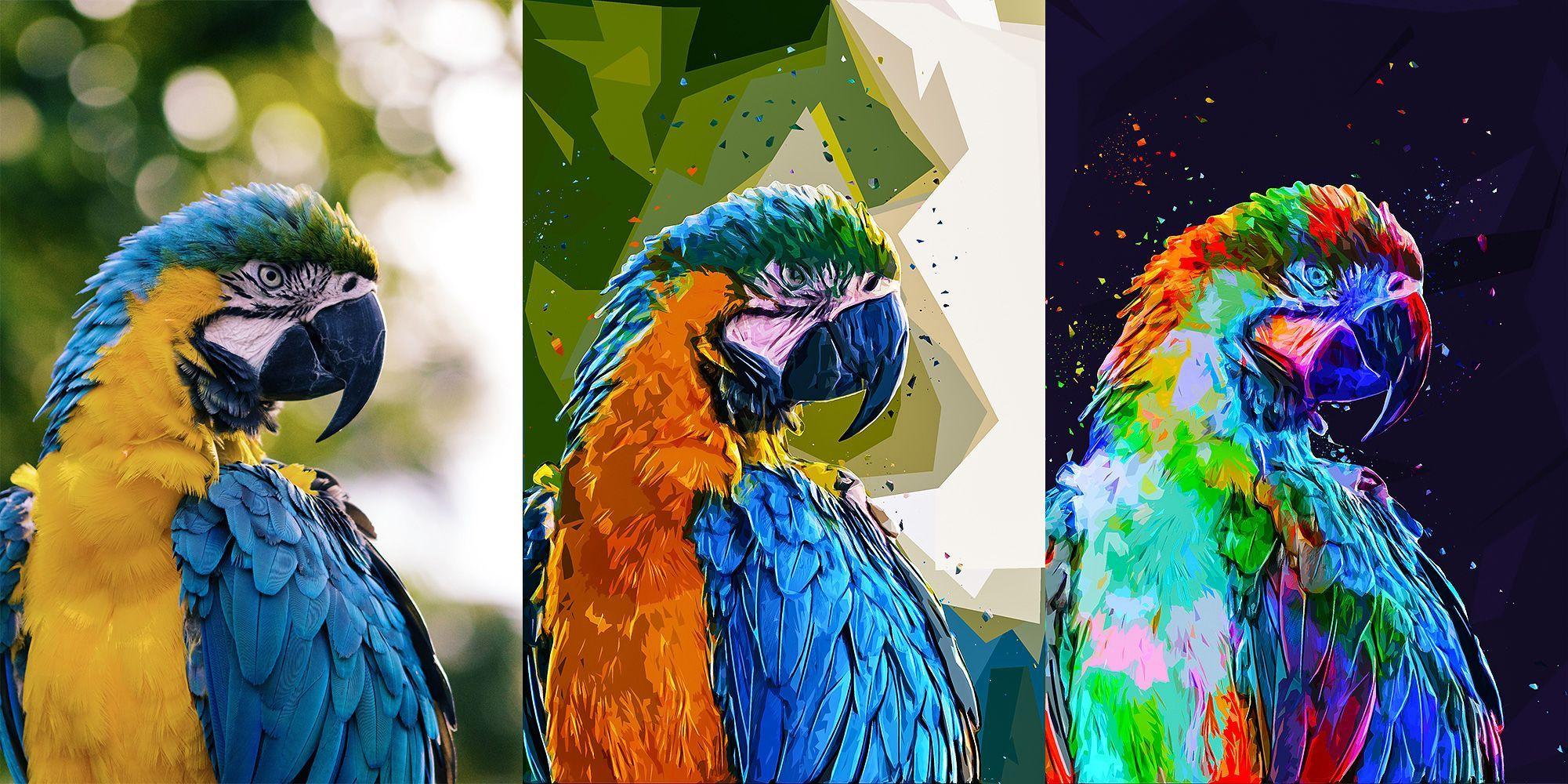 دانلود اکشن Lowpoly Photoshop Action تبدیل چند ضلعی