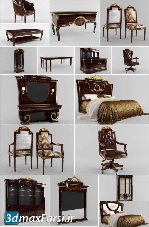 دانلود میز صندلی سلطنتیبرای مکس