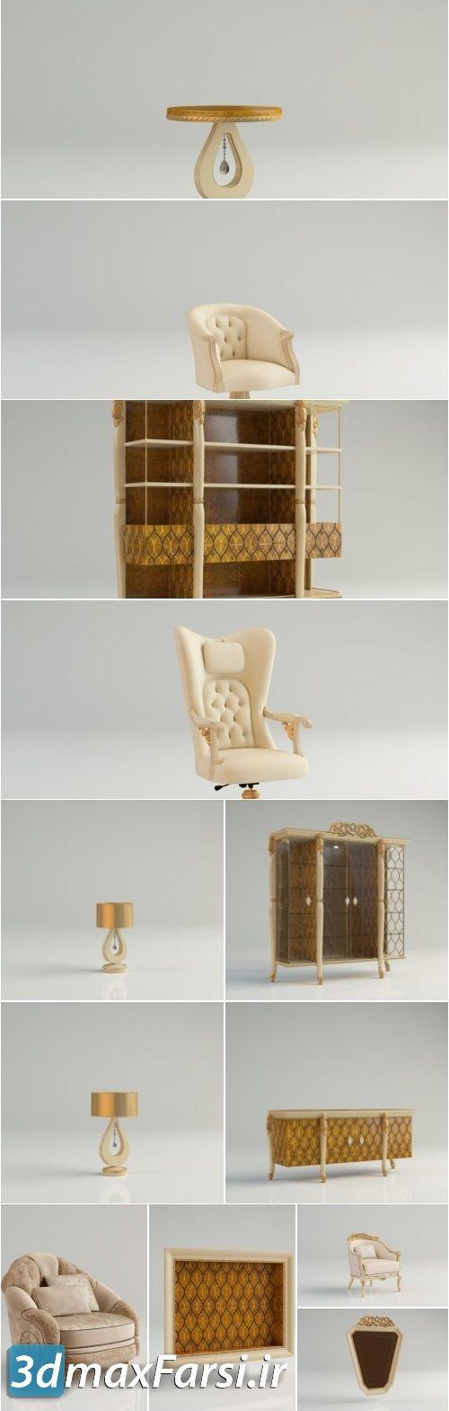 مدل سه بعدی میز سلطنتی کلاسیک