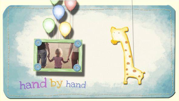 دانلود پروژه افترافکت نمایش اسلایدشو با موضوع کودک و خاطرات کودکی