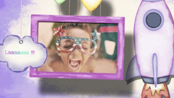 دانلود پروژه آماده افترافکت مناسب میکس کودک Baby Kids Photo Slideshow