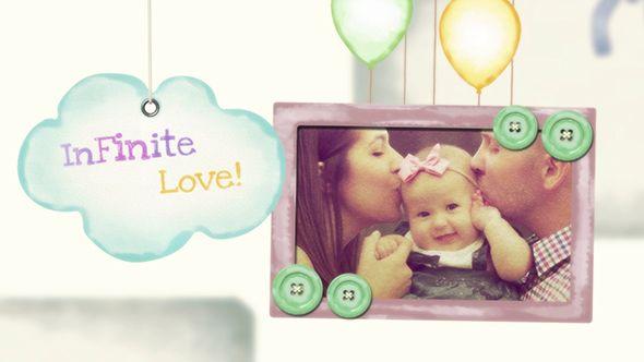 پروژه آماده افترافکت کودک Baby Kids Photo Slideshow