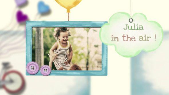 پروژه افترافکت کودک videohive : Baby Kids Photo Slideshow