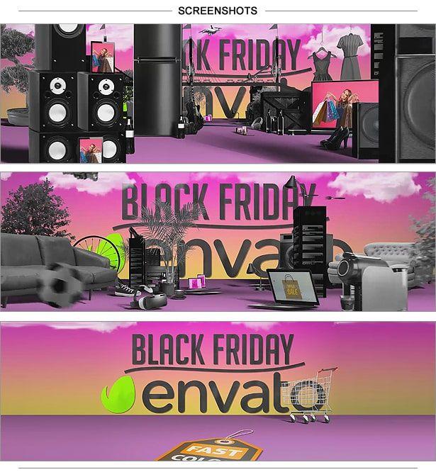 دانلود پرومو تیزر تبلیغاتی فروش ویژه جمعه سیاه Black Friday Shopping