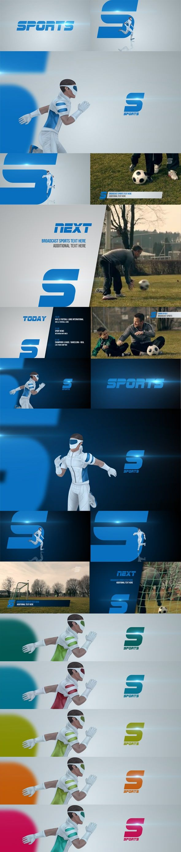 دانلود پروژه افترافکت اخبار ورزشی : برودکست Broadcast Sports Future Package
