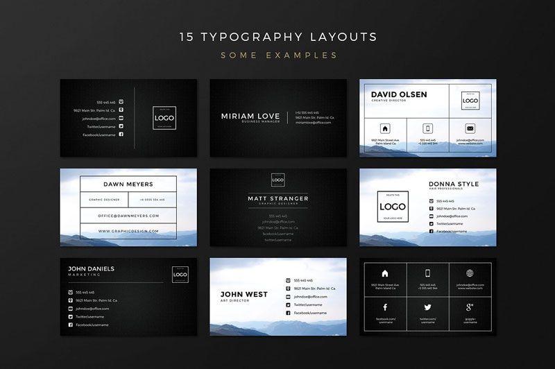 کارت ویزیت لایه باز شیک creativem Business Card Creation Kit