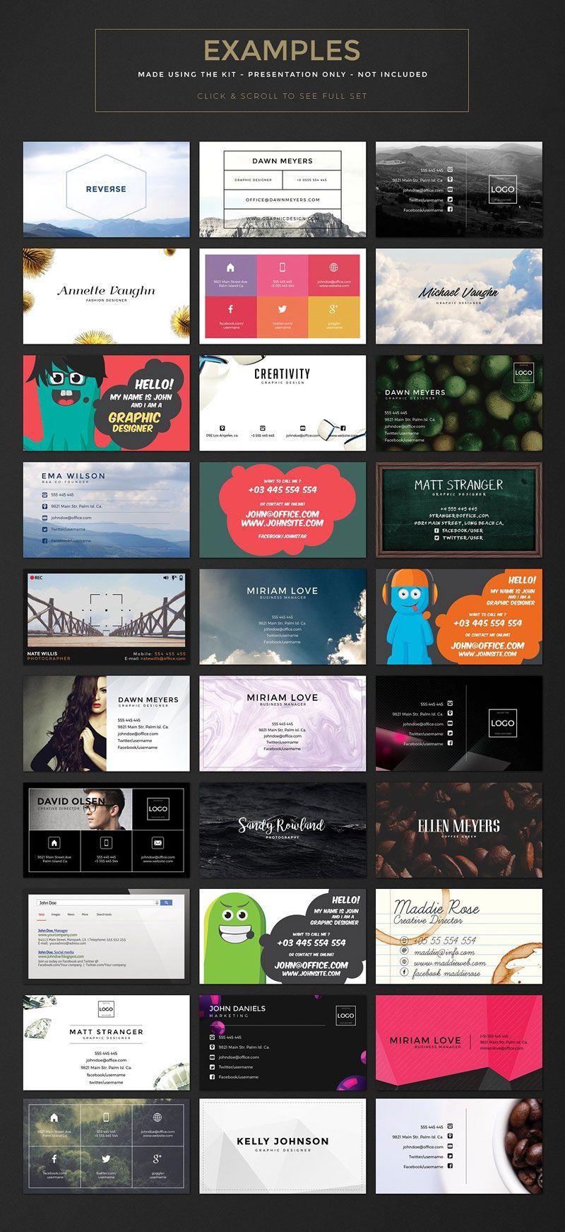 کارت ویزیت لایه باز فارسی رایگان creativem Business Card Creation Kit