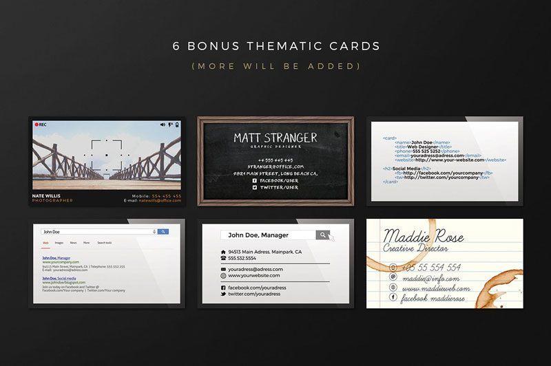 کارت ویزیت لایه باز ایرانی creativem Business Card Creation Kit
