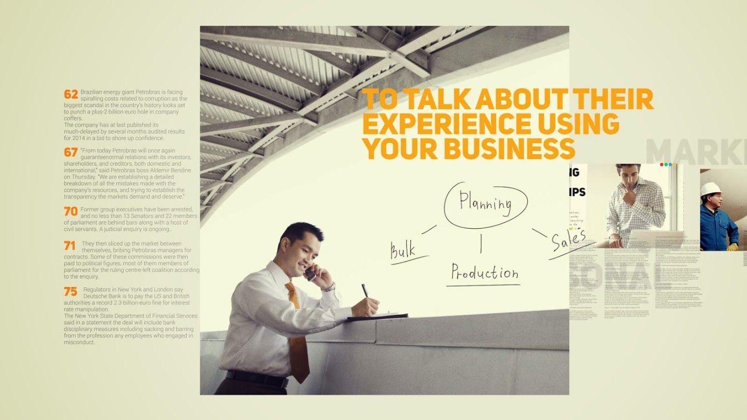 پرومو تیزر تبلیغاتی کسب و کار افترافکت